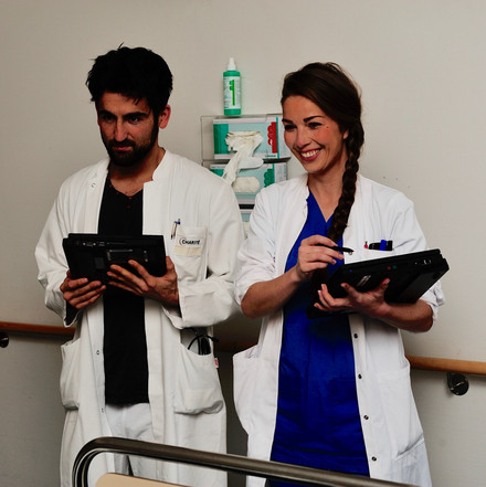 Tablet computers improve the quality of medical education. Photo: Daniel C. Baumgart