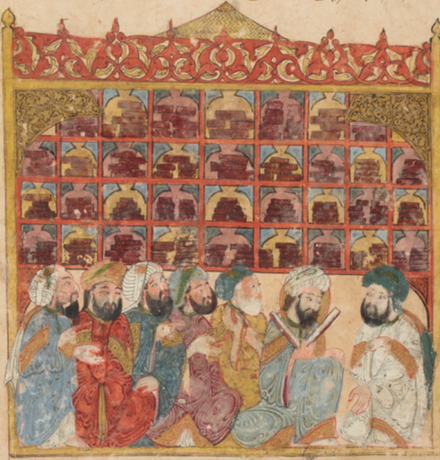 The 'Golden Age': the Arab and Persian cultures of the Middle Ages fostered a lively exchange of knowledge. Illustration: Maqamat of al-Hariri, 1237 AD, illustrated by Yahya ibn Mahmud al-Wasiti, original manuscript in the National Library of France.